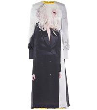 Undercover Reversible Satin And Faux Fur Dress Multicoloured