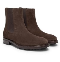 Tom Ford Suede Chelsea Boots Brown