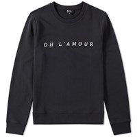 A.P.C. Oh L'amour Crew Sweat Black
