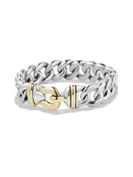 David Yurman Buckle Bracelet In Silver And 14K Gold 14Mm Silver Gold