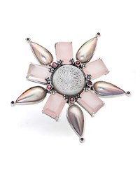 Stephen Dweck One Of A Kind Multi Stone Flower Pendant