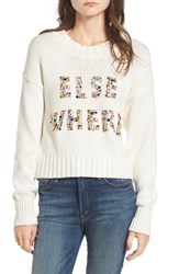 Wildfox Couture Women's Elsewhere Embellished Sweater
