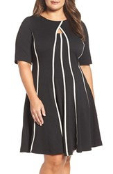 Gabby Skye Plus Size Women's Keyhole Fit And Flare Dress