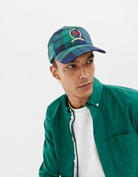 2adc93f34bf Tommy Jeans 6.0 Limited Capsule Baseball Cap With Crest Logo In Plaid Check  Plaid Check Navy