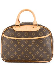 Louis Vuitton Vintage Trouville Tote Bag Brown