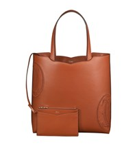 Cartier Le 18H Happy Birthday Leather Tote Bag Brown