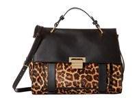 Ivanka Trump Turnberry Satchel Natural Leopard Haircalf Satchel Handbags Animal Print