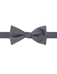 Vince Camuto Geometric Silk Bow Tie Navy