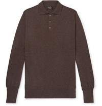 Emma Willis Cashmere Polo Shirt Brown