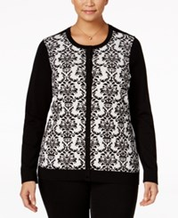 Charter Club Plus Size Embellished Cardigan Only At Macy's Vanilla Bean Combo