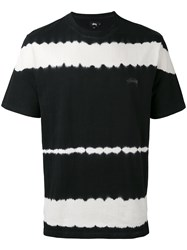 Stussy Striped T Shirt Men Cotton S Black