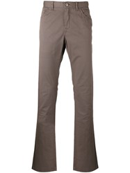 Brioni Tapered Trousers Brown