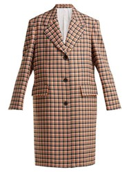 Calvin Klein 205W39nyc Oversized Checked Wool Coat Red Multi