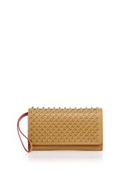 Christian Louboutin Macaron Studded Leather Wallet Biscuit Black