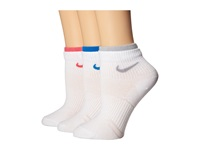 Nike Cotton Lightweight Quarter With Moisture Management 3 Pair Pack White Wolf Grey White Pink White Light Photo Blue Women's Quarter Length Socks Shoes