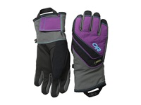 Outdoor Research Centurion Gloves Charcoal Orchid Rio Extreme Cold Weather Gloves Gray