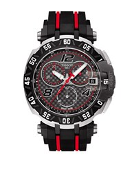 Tissot T Race Motogp Limited Edition Stainless Steel Rubber Strap Chronograph Watch Black