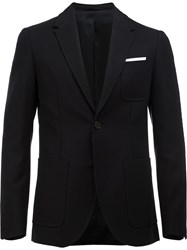 Neil Barrett Fitted Blazer Blue
