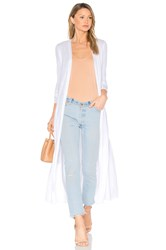 Lamade Reed Duster Cardi White