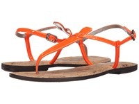 Sam Edelman Gigi Neon Orange Patent Women's Sandals