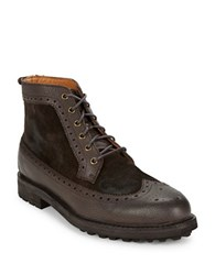 Polo Ralph Lauren Nickson Suede And Leather Boots Dark Brown