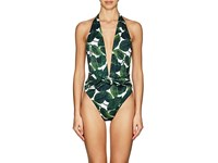 Milly Wrap One Piece Swimsuit Emerald Multi