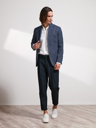 Shanghai Tang Pique Knit Blazer Slim Fit Denim