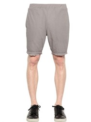 08 Sircus Wool Blend Crepe Jersey Shorts