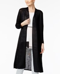 Alfani Linen Duster Cardigan Only At Macy's Deep Black