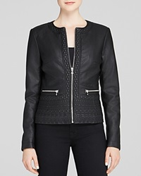 French Connection Jacket Plush Faux Leather