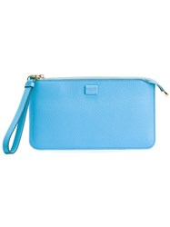 Dolce And Gabbana Wristlet Clutch Blue