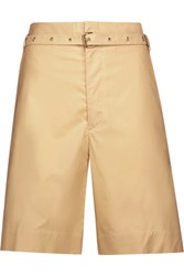 Isabel Marant Neddy Belted Cotton Shorts Pastel Yellow