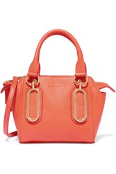 See By Chloe Paige Mini Textured Leather Shoulder Bag Coral