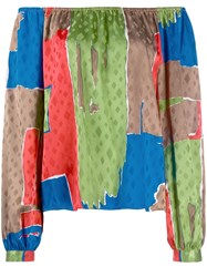 Tory Burch Silk Colour Blocked Blouse 60