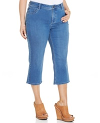 Lee Plus Size Cropped Jeans Houston Wash