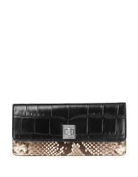 Michael Michael Kors Python Embossed Leather Wallet Natural