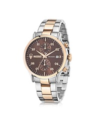 Maserati Epoca Brown Dial Two Tone Stainless Steel Men's Watch