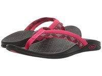 Chaco Aurora Cloud Checked Berry Women's Sandals Pink