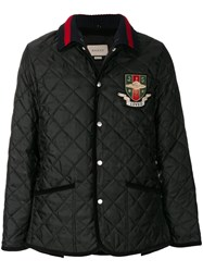 Gucci Quilted Padded Jacket Cotton Polyamide Polyester Fluorocarbon Resin Black
