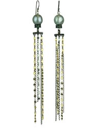 Katerina Psoma Pearl Fringed Earrings