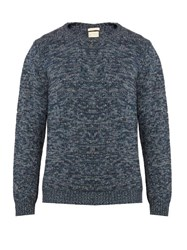 Massimo Alba Long Sleeved Cashmere Sweater Blue Multi