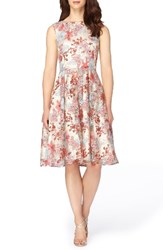 Tahari Women's Embroidered Fit And Flare Dress