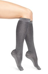 Chelsea 28 Women's Chelsea28 Shimmer Rib Knit Knee High Socks