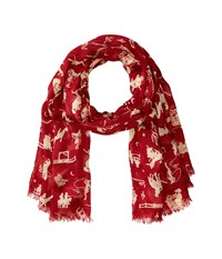 Polo Ralph Lauren All Over Rodeo Modal Cashmere Scarf Spice Red Scarves