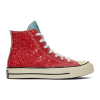 J.W.Anderson Jw Anderson Red And Yellow Converse Edition Glitter Chuck 70 High Sneakers Cherry Sulp
