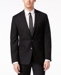 Ryan Seacrest Distinction Black Solid Slim Fit Jacket