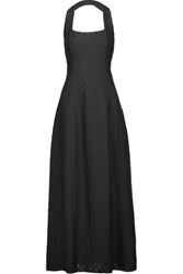 Missoni Crochet Knit Halterneck Maxi Dress Black