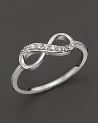 Kc Designs Diamond Infinity Ring In 14K White Gold .10 Ct. T.W. White Gold White Diamodns