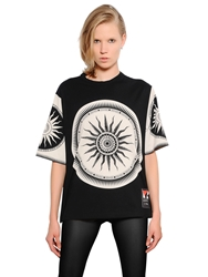 Fausto Puglisi Limited Edition Printed Cotton T Shirt Black