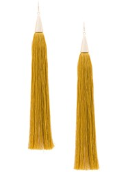 Eddie Borgo Long Tassel Earrings Yellow And Orange